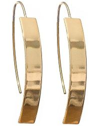 SHOSHANNA LEE - Curved Metal Earrings - Lyst