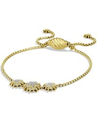 David Yurman - 'starburst' Three-station Bracelet With Diamonds In Gold - Lyst
