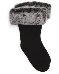 UGG - Ugg Rain Boot Socks With Faux Fur Cuff - Lyst
