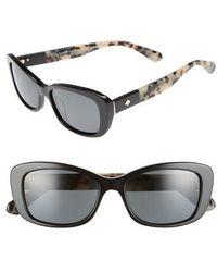 Kate Spade - Claretta 53mm Polarized Sunglasses - Lyst