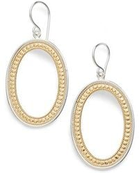 Anna Beck - Large Open Oval Drop Earrings - Lyst