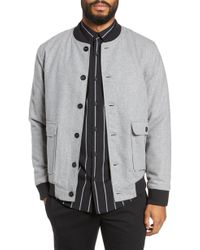 Calibrate - Button Front Bomber Jacket - Lyst