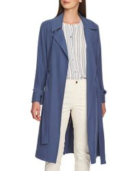 1.STATE - Soft Twill Belted Trench Coat - Lyst