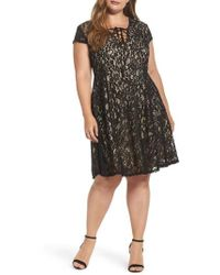 Soprano - Tie Front Lace Dress - Lyst