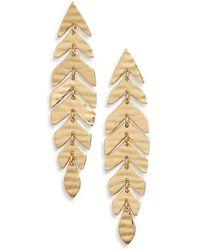 Kate Spade - A New Leaf Linear Drop Earrings - Lyst