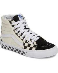 Vans - Sk8-hi Checker Sneaker - Lyst