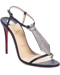 4564af675a5 Christian Louboutin - T Cab Tie Embellished Sandal - Lyst