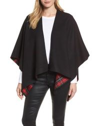 Burberry - Crop Reversible Merino Wool Cape - Lyst