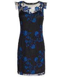 Julia Jordan - Embroidered Mesh Sheath Dress - Lyst