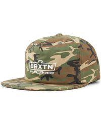 Brixton - Cruss Mp Snapback Baseball Cap - Lyst
