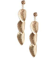 Treasure & Bond - Organic Petal Cascade Drop Earrings - Lyst