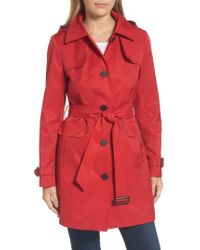 CALVIN KLEIN 205W39NYC - Water Resistant Belted Trench Coat - Lyst