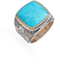 Konstantino - Heonos Square Turquoise Ring - Lyst