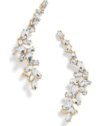 BaubleBar - Crystal Leaf Ear Crawlers - Lyst
