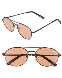Quay - Little J 55mm Aviator Sunglasses - Lyst