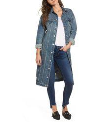 Hudson Jeans - Hudson Distressed Denim Duster - Lyst