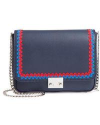 Loeffler Randall - Lock Leather Flap Clutch/shoulder Bag - Lyst