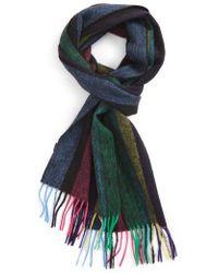 Paul Smith - Stripe Wool Scarf - Lyst