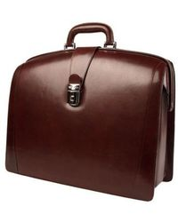 Bosca - Triple Compartment Leather Briefcase - Lyst