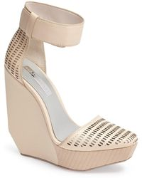 BCBGMAXAZRIA - 'austin' Ankle Strap Wedge Sandal - Lyst