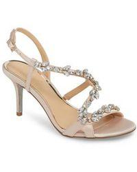 Badgley Mischka - Badgley Mischka Ganet Embellished Sandal - Lyst