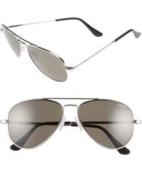 Randolph Engineering - 'concorde' 57mm Polarized Sunglasses - Chrome/ Grey Polarized - Lyst