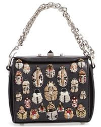 Alexander McQueen - Embellished Box Bag 16 Leather Bag - - Lyst