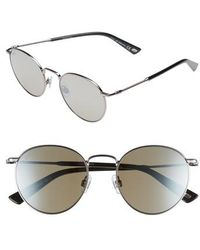 Web - 51mm Round Metal Sunglasses - Shiny Gunmetal/ Roviex Mirror - Lyst