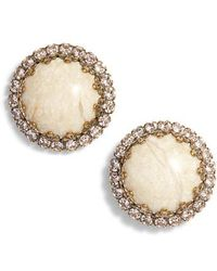 Sorrelli - Rhinestone Edge Stud Earrings - Lyst