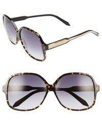 883b9490849 Victoria Beckham - Classic 61mm Gradient Lens Square Sunglasses - Amber  Tortoise - Lyst
