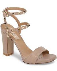 Valentino - Rockstud Ankle Strap Sandal - Lyst