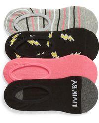 Sockart - Livin By My Rule 4-pack No-show Socks, Black - Lyst
