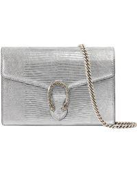 e5c73f75774d Gucci - Dionysus Genuine Lizardskin Clutch - Metallic - Lyst