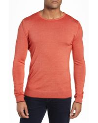 Boglioli - Trim Fit Crewneck Wool Sweater - Lyst