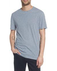 Vince - Stripe Crewneck T-shirt - Lyst