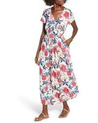 a461c6d0b50a Roxy - District Nights Floral Print Dress - Lyst