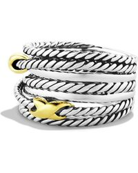 David Yurman - 'double X Crossover' Ring - Lyst