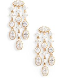 Nadri - Georgian Chandelier Earrings - Lyst