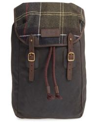 Barbour - Waxed Canvas Backpack - Lyst