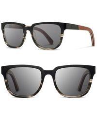 Shwood - 'prescott' 52mm Titanium & Wood Sunglasses - Lyst