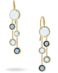 Marco Bicego - Mixed Stone 2-strand Earrings - Lyst