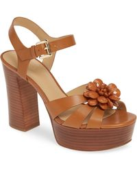 8e791f1729 MICHAEL Michael Kors - Dalia Flower Platform Sandal - Lyst