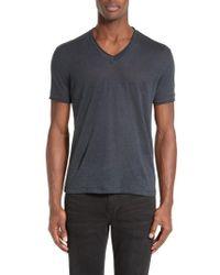John Varvatos | V-neck Linen T-shirt | Lyst