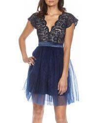 TFNC London - Macen Scalloped Lace Skater Dress - Lyst