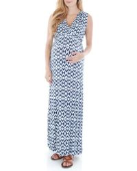 Everly Grey - 'jill' Maternity Maxi Dress - Lyst