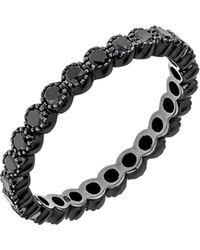 Sethi Couture - Black Diamond Bezel Band Ring - Lyst