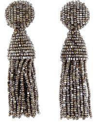 Oscar de la Renta - 'classic Short' Tassel Drop Earrings - Lyst