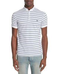 The Kooples - Stripe Officer Polo Shirt - Lyst