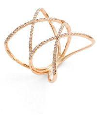 Bony Levy - Diamond Double Crisscross Ring (nordstrom Exclusive) - Lyst