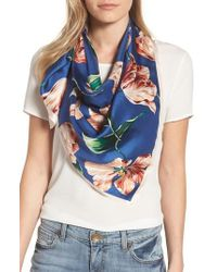 Echo - Buckingham Tulips Silk Square Scarf - Lyst